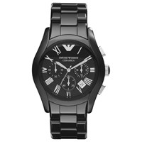 Emporio Armani Ar1400 Men's Ceramic Chronograph Bracelet Strap Watch Black