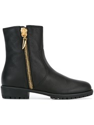 Giuseppe Zanotti Design Shearling Lined Ankle Boots Black