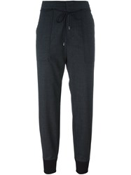 Diesel Black Gold Tapered Cropped Trousers Grey
