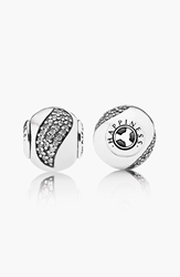 Pandora Design 'Essence Happiness' Bead Charm Sterling Silver Clear