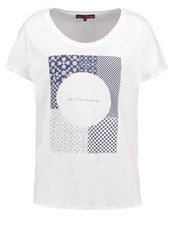 Tom Tailor Denim Print Tshirt Off White