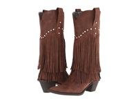 Roper 12 Stud And Fringe Boot Brown Crystal Stud Cowboy Boots