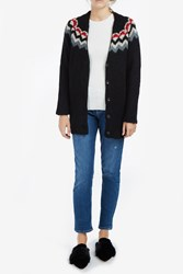 Paul Joe Women S Dallas Wool Lurex Cardigan Boutique1 Black