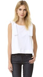 Victoria Beckham Double Knot Tee White