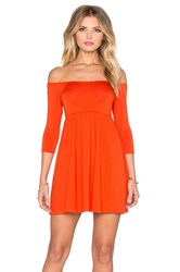 Rachel Pally X Revolve Off The Shoulder Empire Dress Orange