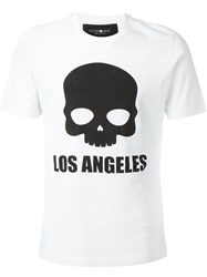 Hydrogen 'Los Angeles' Skull T Shirt Red