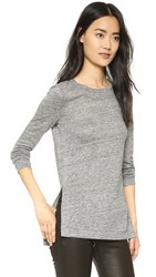 Pure Dkny Long Sleeve Top Heather Grey