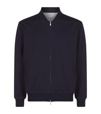Brunello Cucinelli Full Zip Knit Cardigan Male Navy