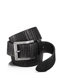 John Varvatos Star Usa Artisan Textured Leather Belt Black
