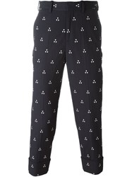 Neil Barrett Triangle Print Trousers Black