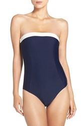 Ted Baker Women's London Strapless One Piece Swimsuit Navy