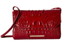 Brahmin Carina Carmine Red Handbags Brown