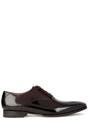 Oliver Sweeney Belair Glossed Leather Oxford Shoes Burgundy