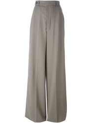 Rick Owens High Waisted Palazzo Pants Grey