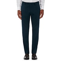 Barneys New York Men's Cotton Cashmere Twill Trousers Navy