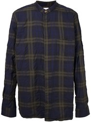 Paul Smith Plaid Collarless Shirt Green