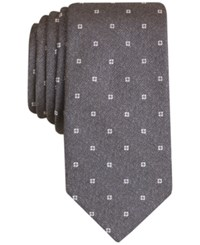 Bar Iii Men's Mitchell Neat Slim Tie Only At Macy's Charcoal