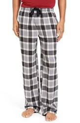Nordstrom Men's Big And Tall Men's Shop Flannel Lounge Pants Ivory Black Tartan