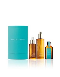 Moroccanoil Luxurious Oils Cylinder Gift Set .