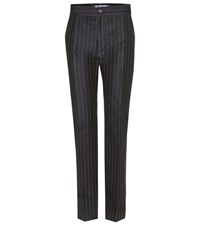 Jacquemus Le Pantalon Ourlet Linen And Cotton Trousers Blue