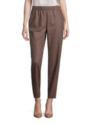 Lafayette 148 New York Fif Track Pants Cobblestone Ink Melange