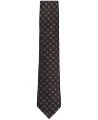 Hugo Boss Men's Patterned Italian Silk Tie Darkbrown
