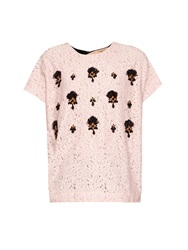 N 21 Embellished Lace And Wool Top