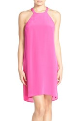 Charlie Jade Women's Silk Shift Dress Hot Pink