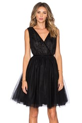 Maison Scotch Tulle Cross Front Mini Dress Black