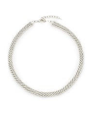 Saks Fifth Avenue Silvertone Rope Necklace