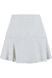 Joseph Danielle Polka Dot Silk Georgette Mini Skirt White