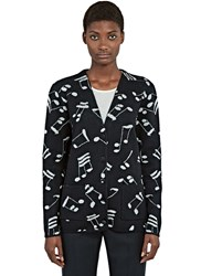 Saint Laurent Music Knit Cardigan Black