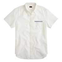 J.Crew Short Sleeve Vintage Oxford Shirt With Tipped Pocket