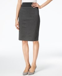Inc International Concepts Curvy Fit Pencil Skirt Only At Macy's Dark Heather