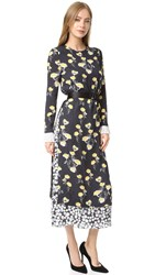 Mother Of Pearl Eleanor Double Layer Silk Dress Dandylion