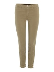 J Brand Anja Ankle Cuff Trouser Brown