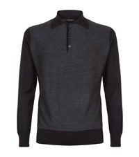 Billionaire Silk Blend Polo Sweater Male Black