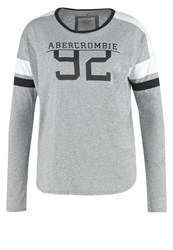 Abercrombie And Fitch Long Sleeved Top Grey With White Navy Mottled Grey