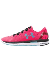 Under Armour Speedform Slingshot Lightweight Running Shoes Harmony Red Black Sky Blue Pink