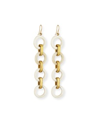 Ashley Pittman Simama Light Horn Drop Earrings