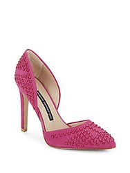 French Connection Maggie Studded Suede Pumps South Beach