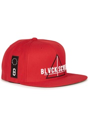 Black Scale Team Blvck Red Snapback Cap