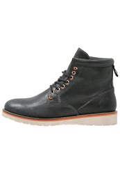 Superdry Stirling Laceup Boots Black Eclipse