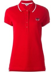 Kenzo 'Mini Tiger' Polo Shirt Red