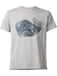 Engineered Garments Fish Print T Shirt