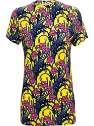Christopher Kane Floral Print T Shirt Yellow And Orange