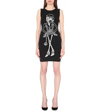 Moschino Skeleton Intarsia Wool Mini Dress A1610