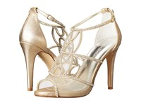 Caparros Ellen Gold Metallic Fabric High Heels