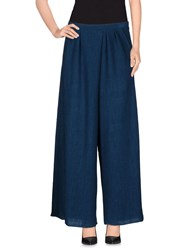 Peacock Blue Trousers Casual Trousers Women Deep Jade