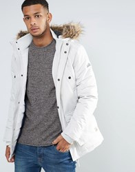 Tokyo Laundry Faux Fur Collar Jacket White
